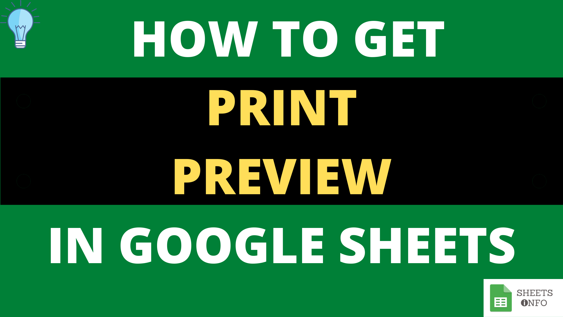 How to Print and Check Print Preview in Google Sheets