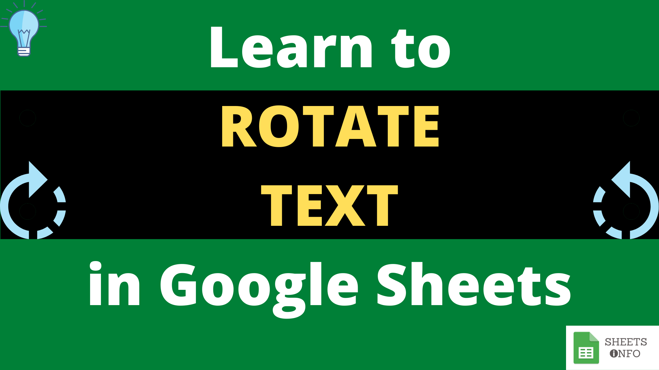 How to Rotate Text in Google Sheet