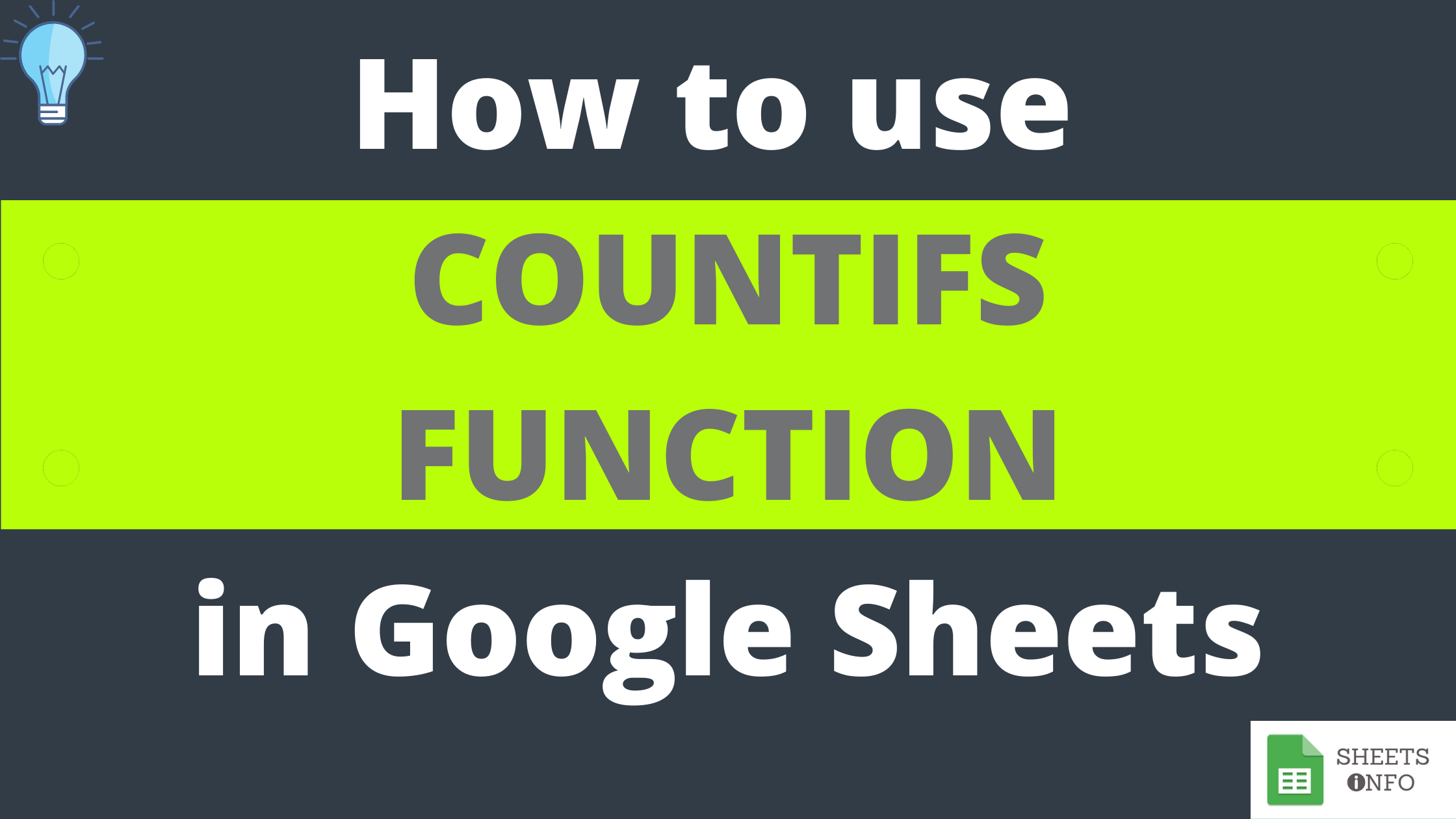 COUNTIFS Function in Google Sheets