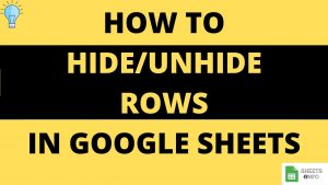 Show or hide Rows in Google Sheet