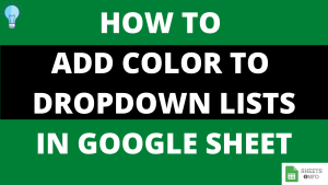 Add Color to Dropdown List